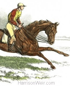 Detail: Cossack, winner of the Derby, by Harrison Weir