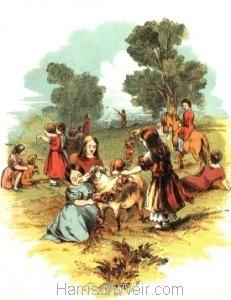 1847 Arthur's Birthday Party, by Harrison Weir