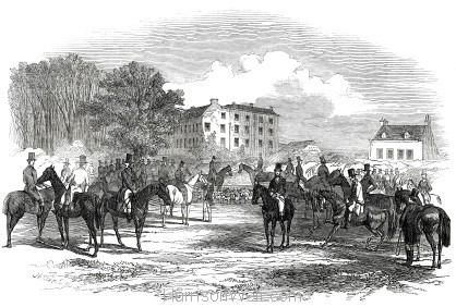 1847 Her Majesty's Buckhounds at Salt Hill - Harrison Weir