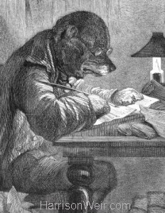 Detail: 1857 The Literary Dog by Harrison Weir