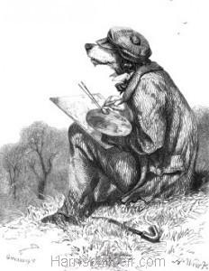 1857 The Artistic Dog by Harrison Weir