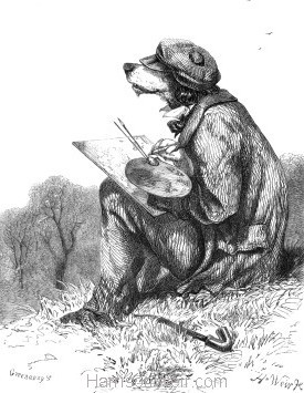 1857 The Artistic Dog by Harrison Weir