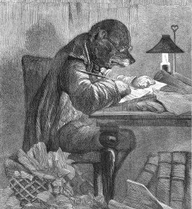 1857 The Literary Dog by Harrison Weir