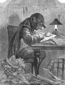 1857 The Literary Dog by Harrison Weir