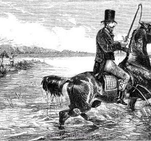 1858 Guiding his Horse's head.. by Harrison Weir