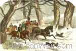 1859 Going to the Christmas Party (Col.) by Harrison Weir