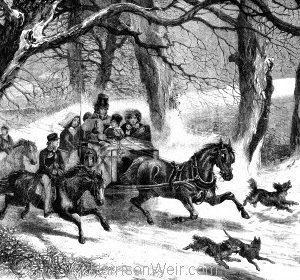 1859 Going to the Christmas Party by Harrison Weir