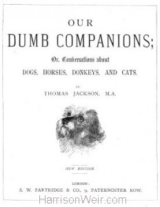 Title Page: Our Dumb Companions 1863 New Edition