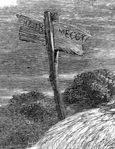 Detail: Poor Meggy's Grave, by Harrison Weir