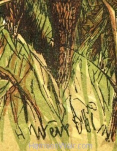 Detail: Signature in Plate 1866 - Captain Stag