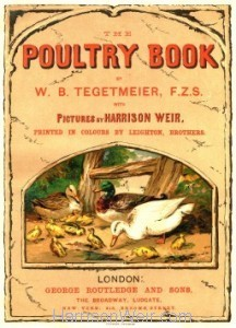 1867 Frontispiece - The Poultry Book, by W B Tegetmeier