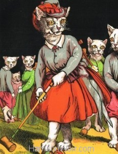 Detail: 1871 Playing Croquet by Harrison Weir