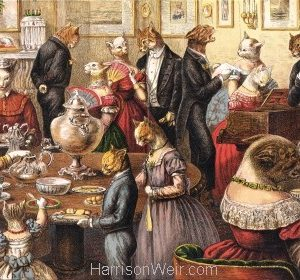 1871 The Cats Tea Party by Harrison Weir