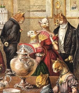 1871 The Cats Tea Party Harrison Weir Harrison Weir