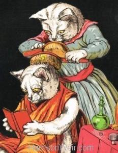 Detail: 1871 Miss Minnie Dressing by Harrison Weir