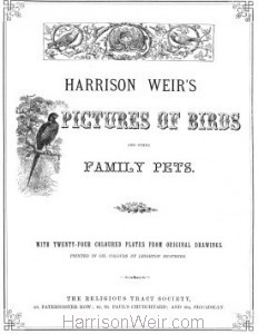 Title Page: Harrison Weir's Pictures of Birds and Other Family Pets