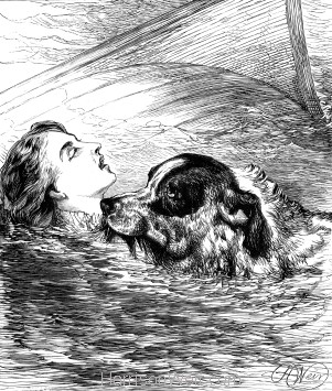 1878 A Heroic Dog, by Harrison Weir