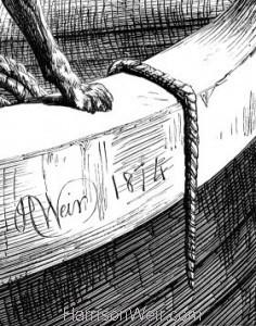 Detail: A Sea-Faring Dog by Harrison Weir