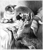 1878 Dog Waiting on Cat by Harrison Weir