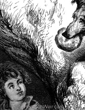 Detail: The Shepherd's Dog and the lost boy, by H.Weir