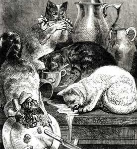 1877 Good Mousers by Harrison Weir