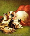 1877 Cat and Kittens by Harrison Weir