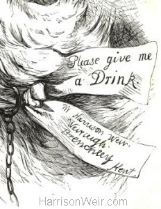 "Detail"" c.1880 Please Give Me A Drink by Harrison Weir"
